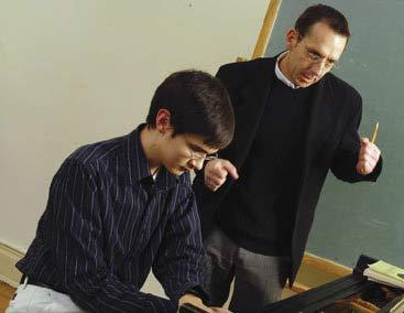 Corey McVicar teaching a student.